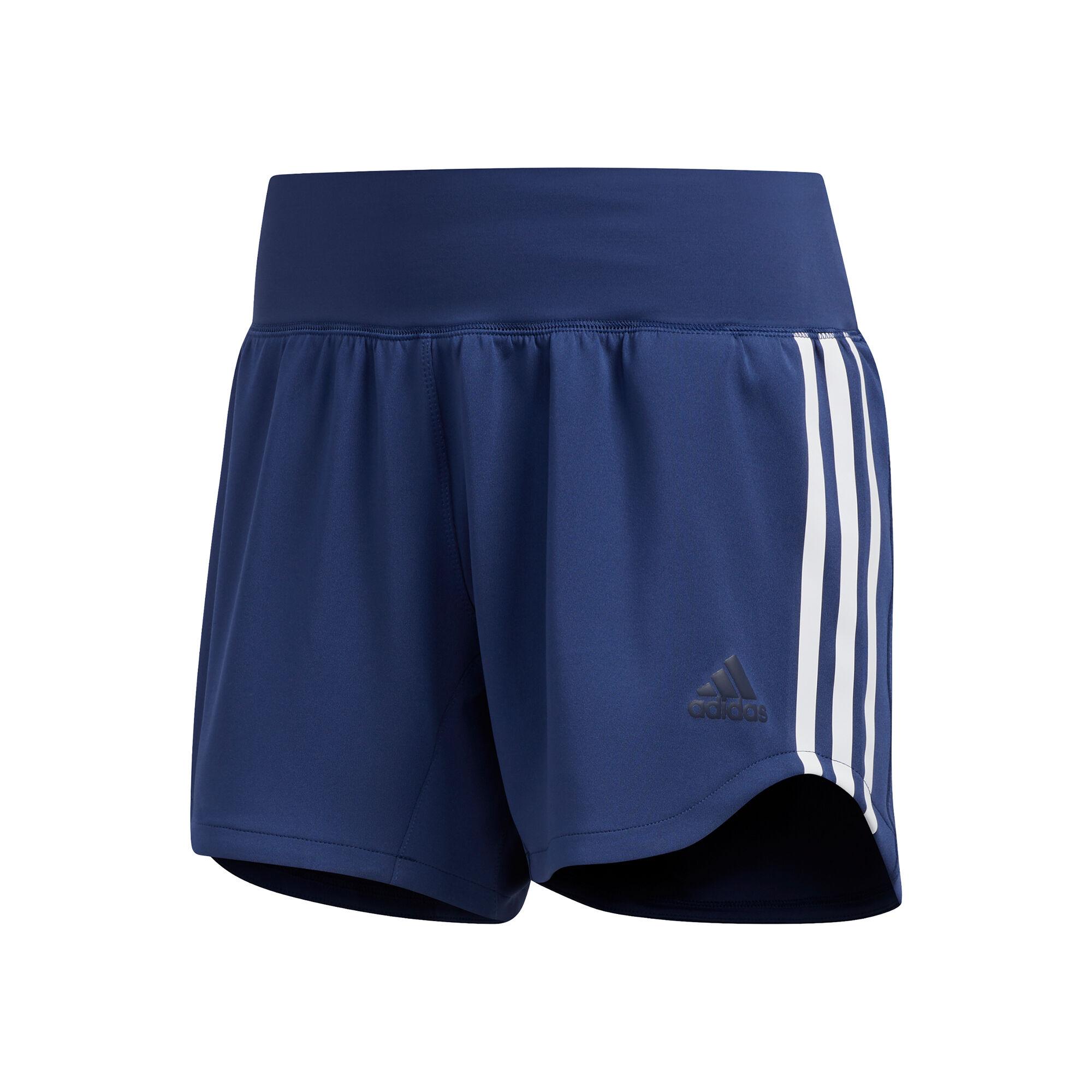 adidas 3-Stripes Woven Shorts Damen - Blau, Weiß