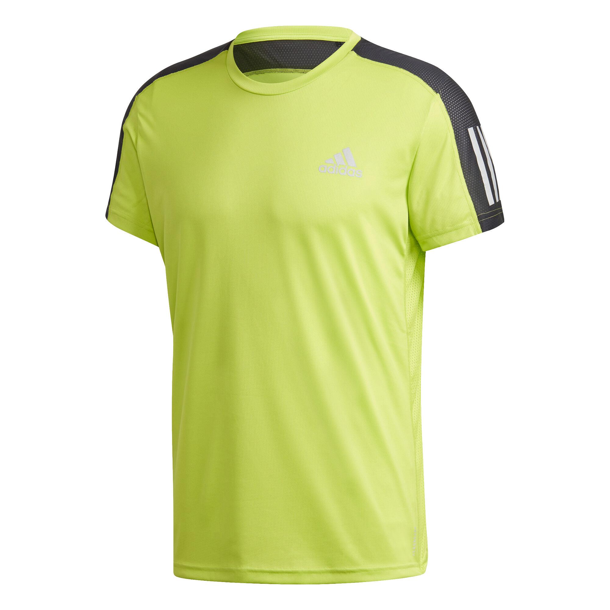 Own The Run T Shirt Herren Neongrün, Schwarz