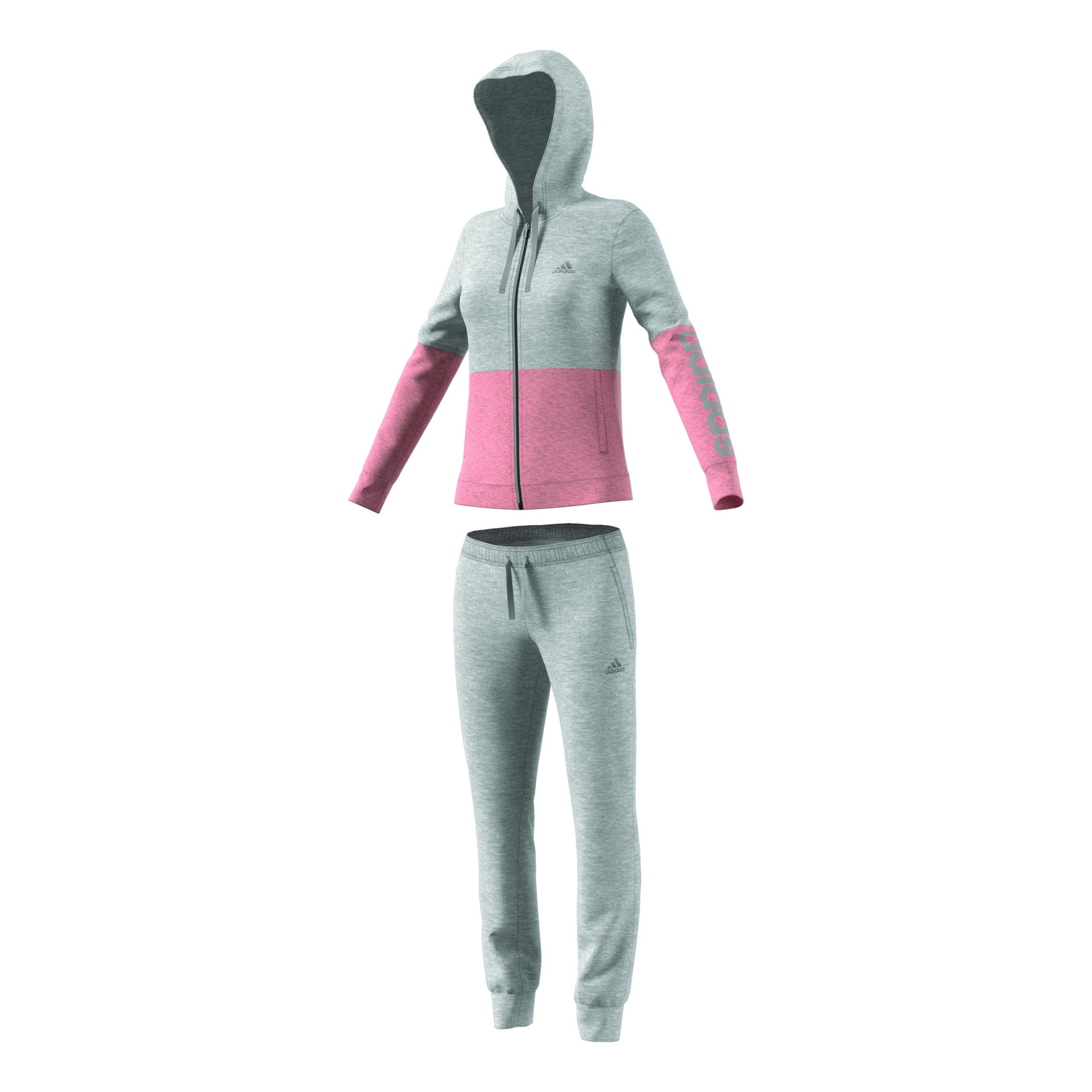 adidas Co Marker Trainingsanzug Damen Hellgrau, Rosa