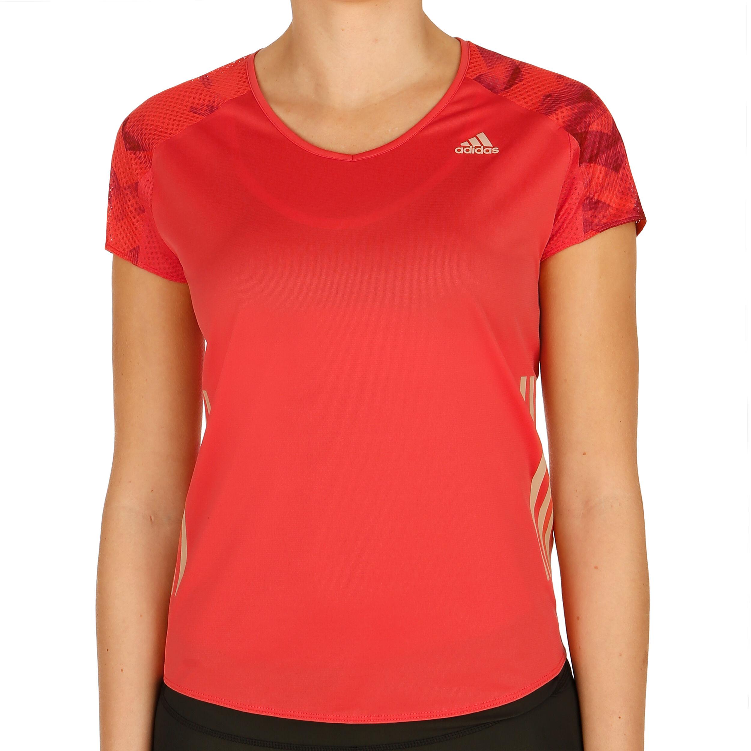 adidas Adizero T Shirt Damen Orange, Dunkelrot online