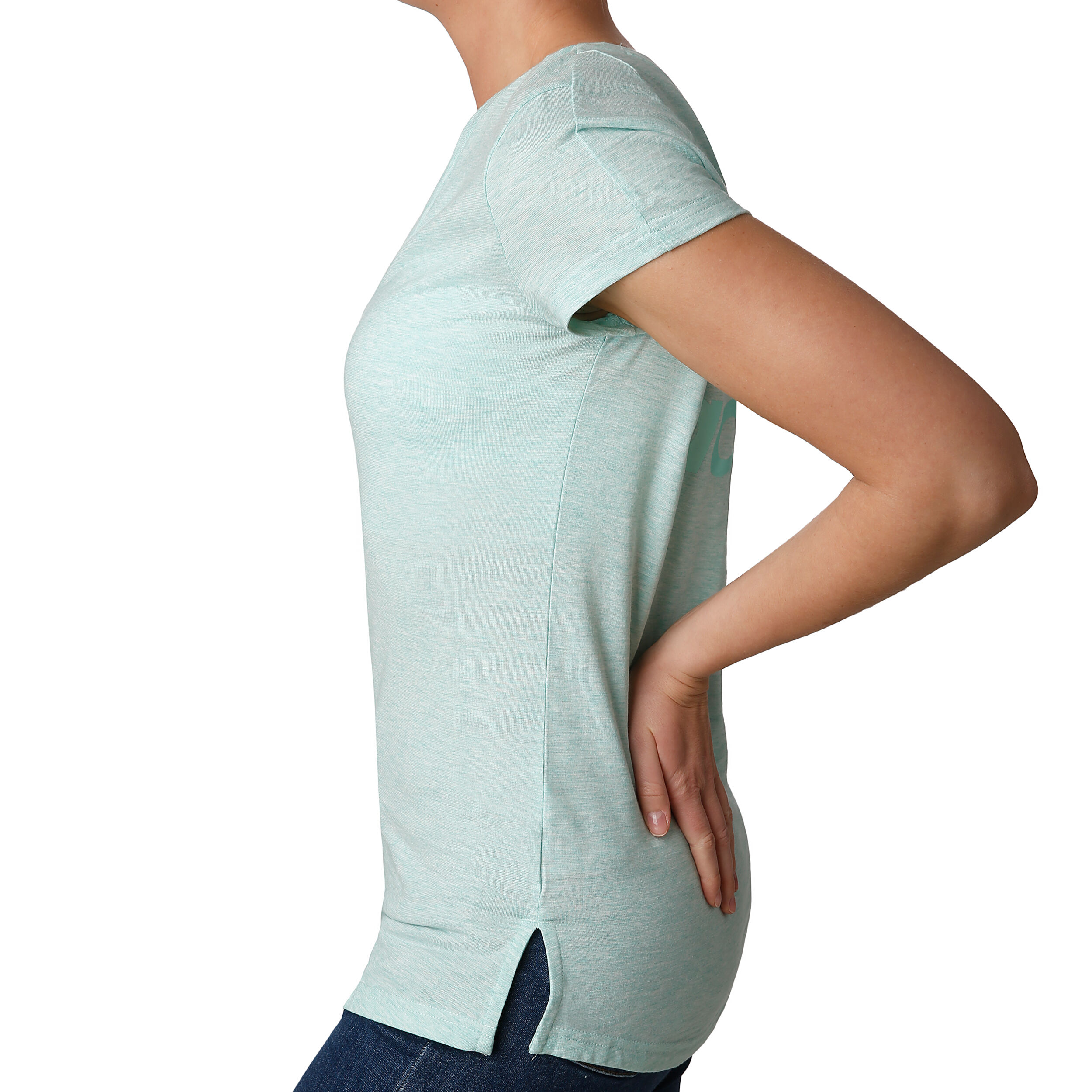 adidas ID Winner V Neck T Shirt Damen Mint, Hellgrün