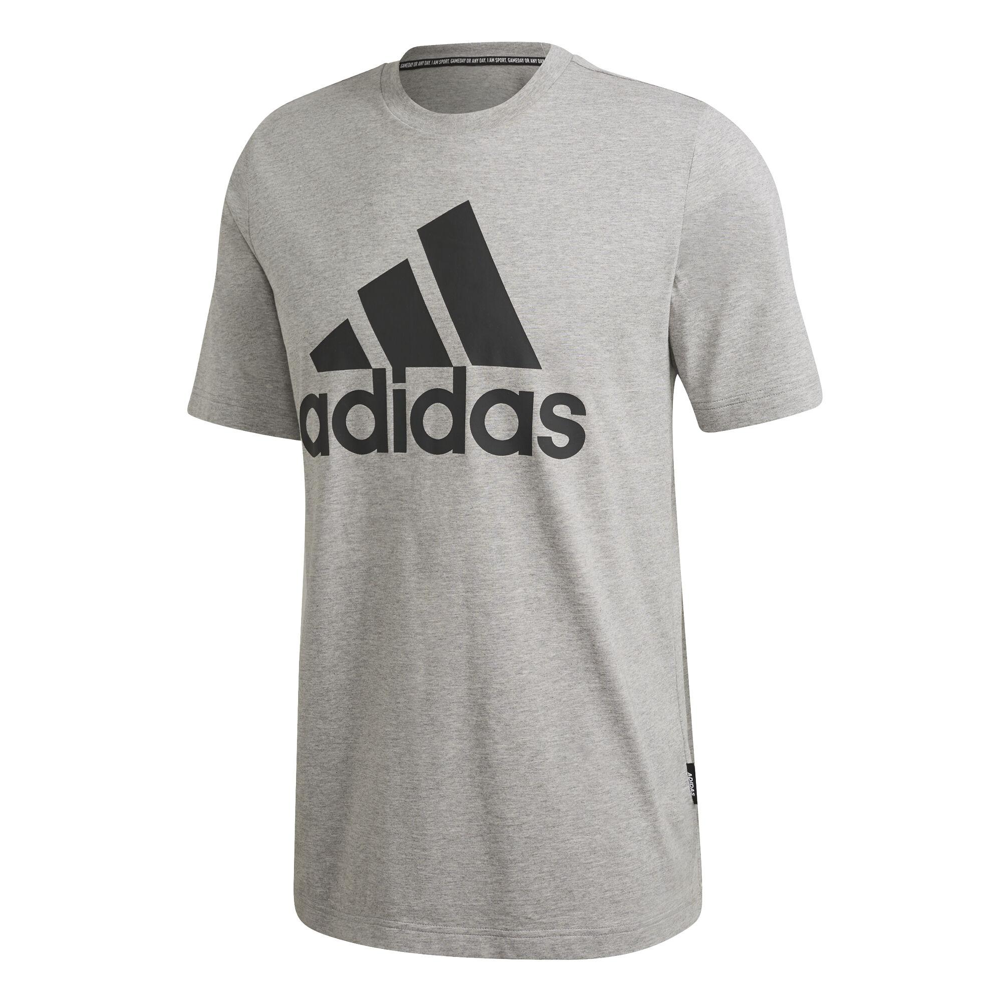 Must Have Badge Of Sport T Shirt Herren Hellgrau, Schwarz