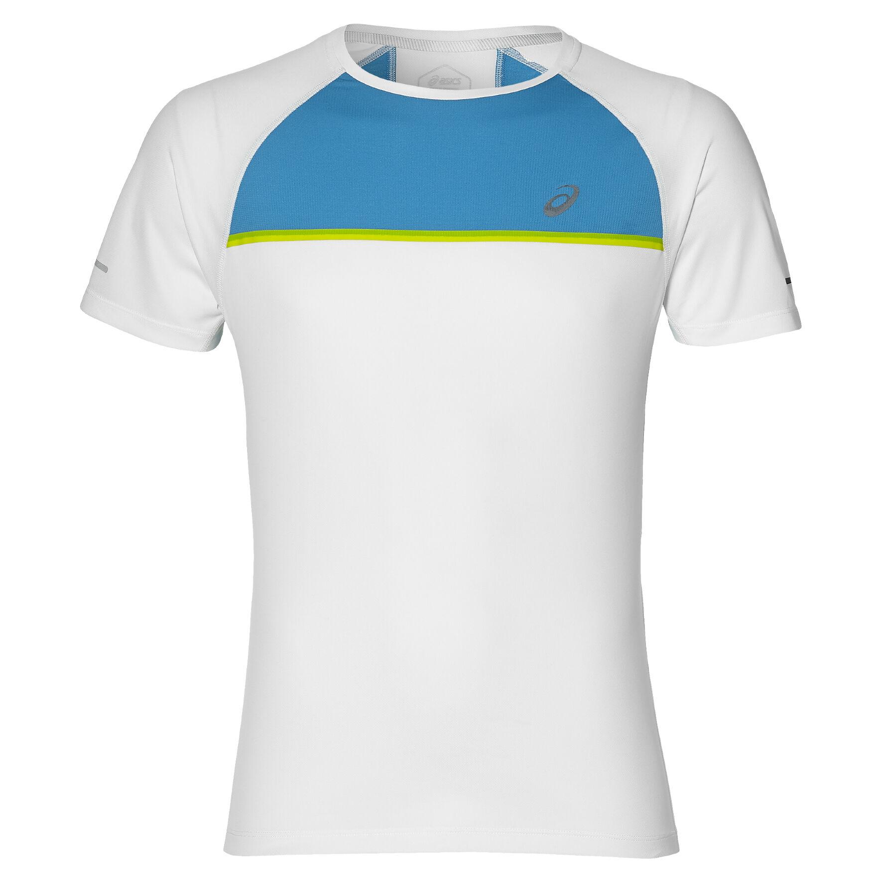 T Shirt Herren Weiß, Türkis