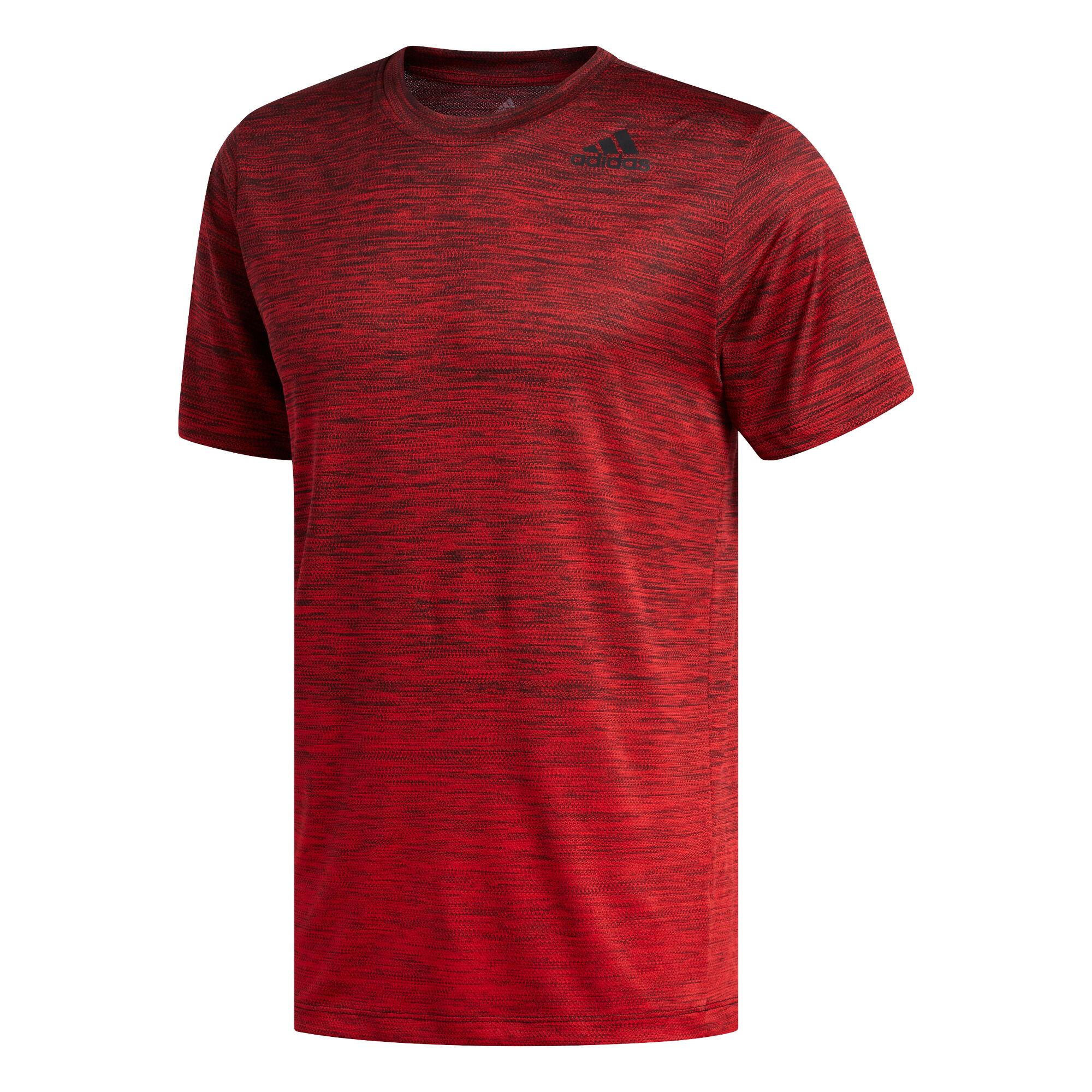 Gradient T Shirt Herren Rot, Schwarz