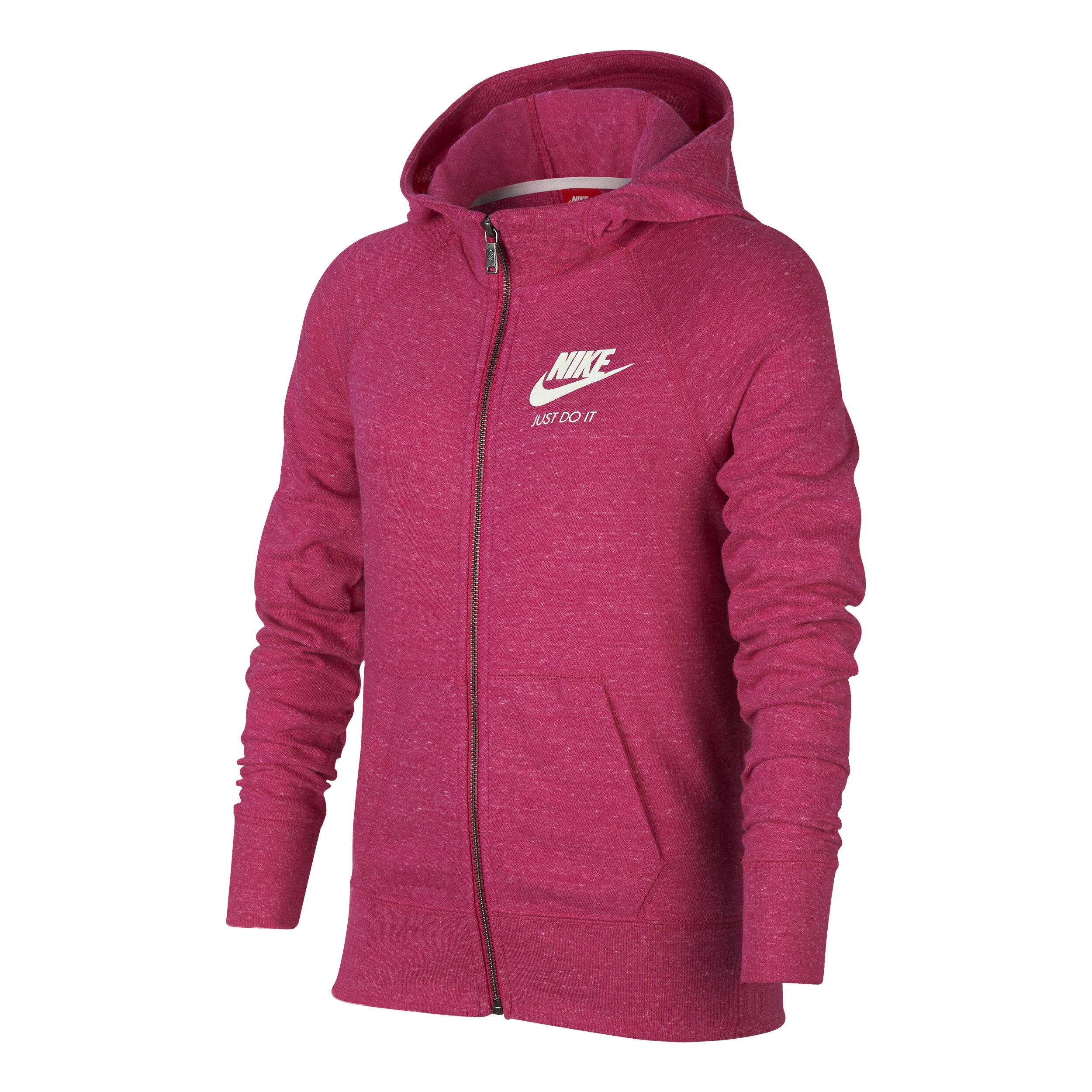 Nike Sportswear Gym Vintage Full Zip Sweatjacke Mädchen Pink, Grau