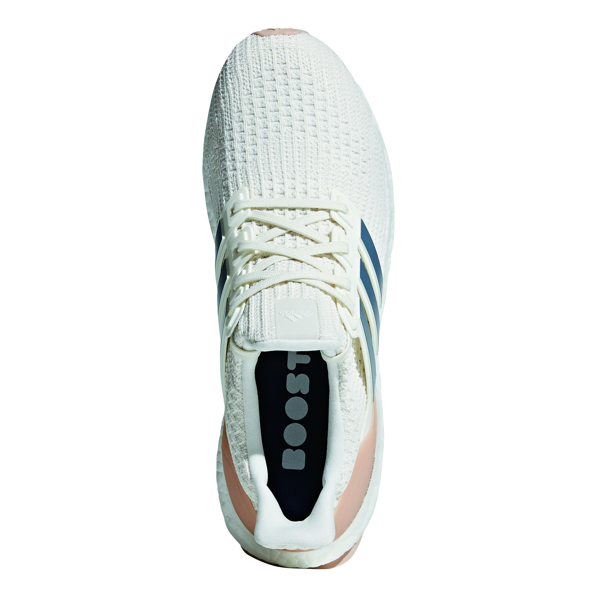 adidas ultra boost neutralschuh herren creme dunkelblau